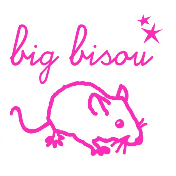 Mini Sticker Rose Fluo Big Bisou Mimilou