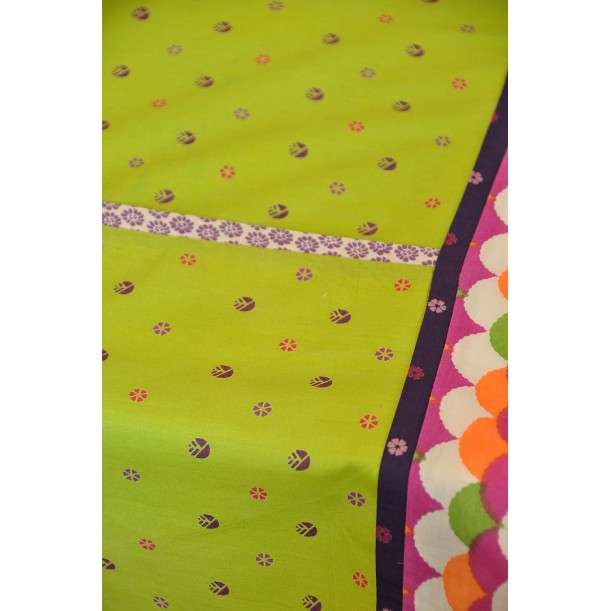 Square Green Tablecloth Baobab