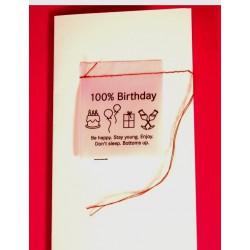 Carte 100% Birthday