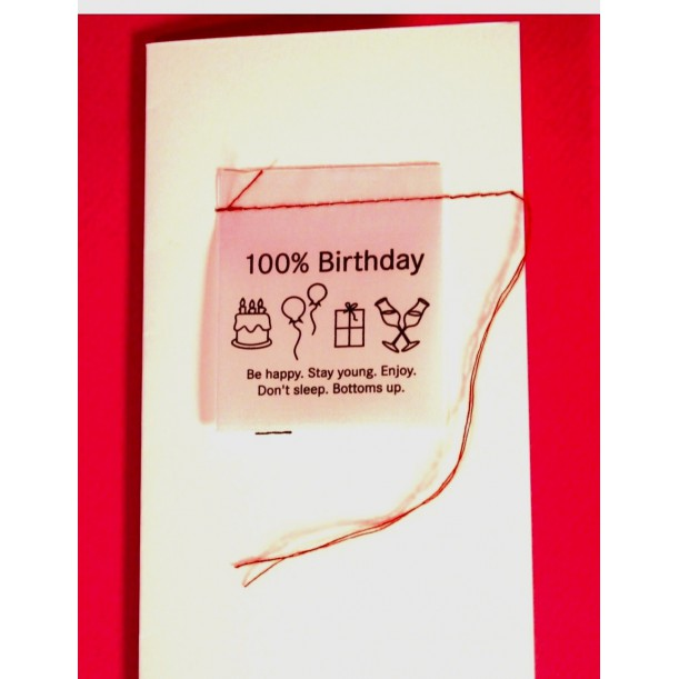 Carte 100% Birthday