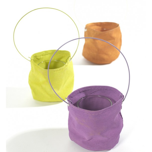 3 Canvas Candle Holders Marie