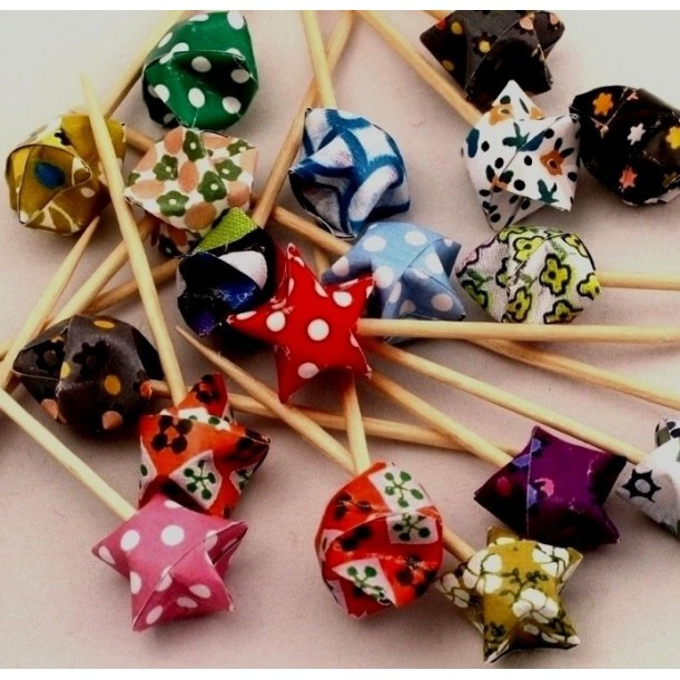 Set de 20 Pics Apero Origami