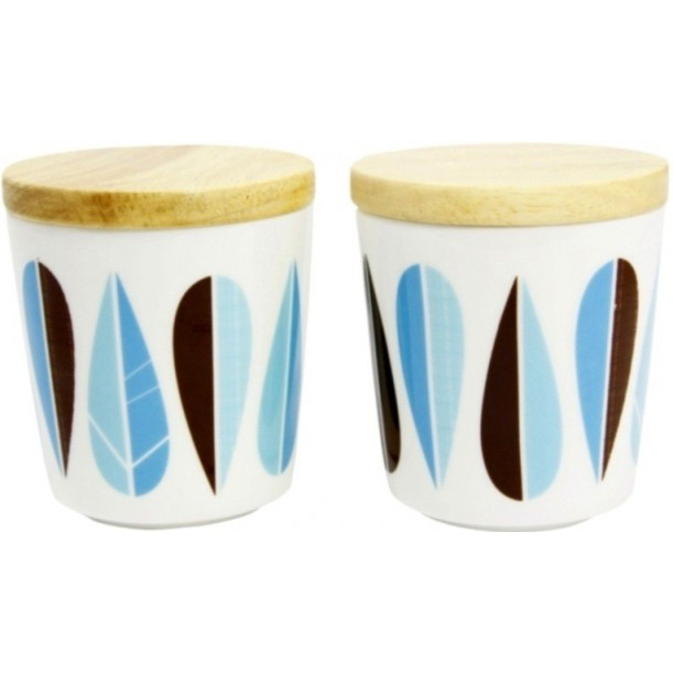 Set of 2 Mugs Leaves