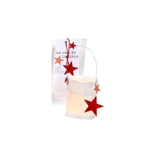 Photophore en Papier Sac de Lumière Etoilé Noël