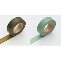 Set de 2 Masking Tape Basic Olive et Aotake