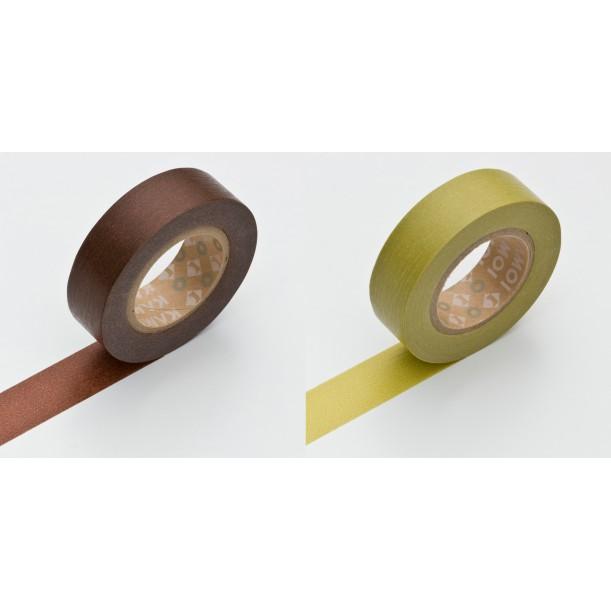 Set de 2 Masking Tape Basic Chocolate et Warabi