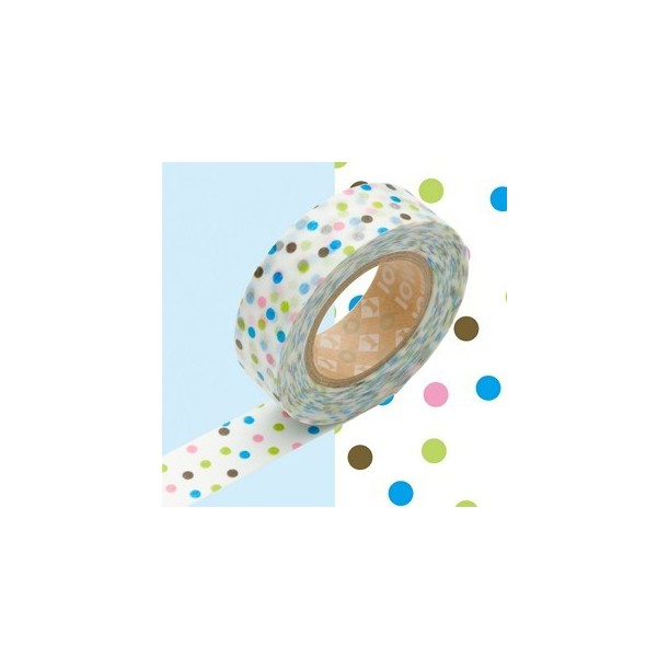Masking Tape Pois Bleu et Multicolore Mark's