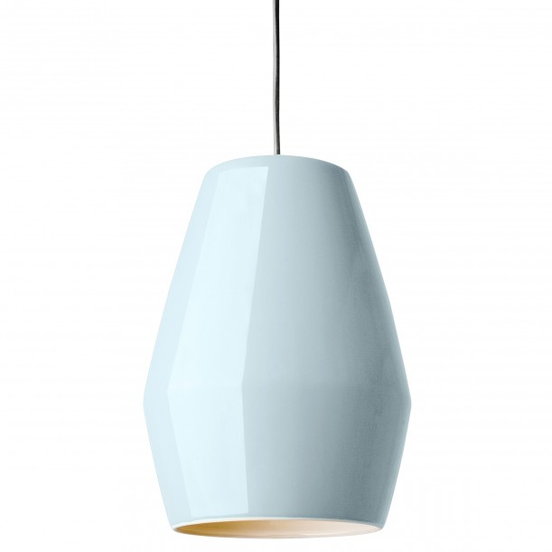 Lampe Suspension Bell Bleu Clair en Porcelaine