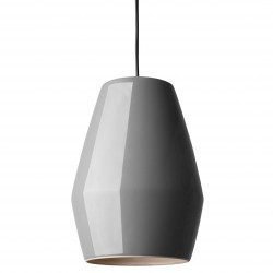 Lampe Suspension Bell Gris en Porcelaine