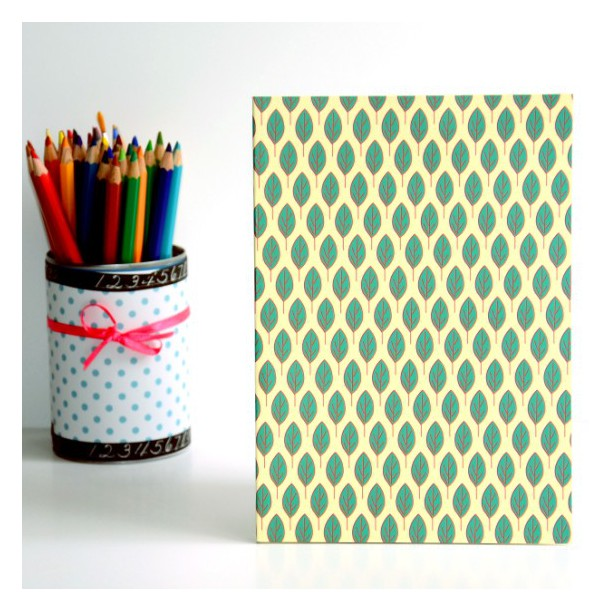 Notebook Green Leaves A5
