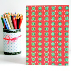 Notebook Green and Green Stars A5