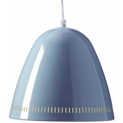 Grande Lampe Suspension Bleu Fumée