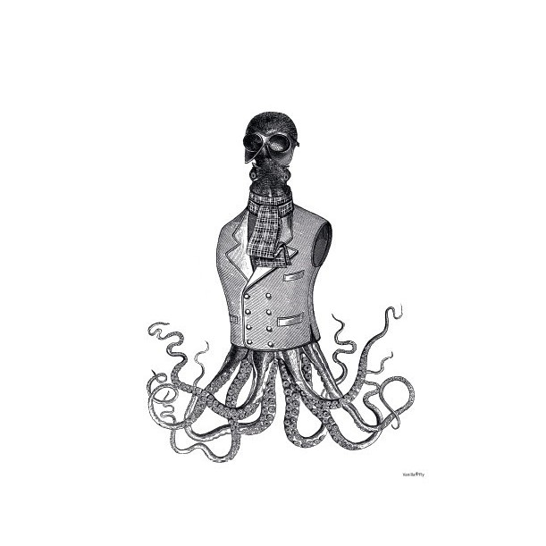Print Octopus In a Jacket
