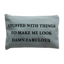 Small Cosmetic Bag Damn Fabulous Grey