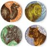 Set of 4 Safari Plates Thomas Paul
