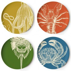 Set of 4 Sealife Plates Thomas Paul