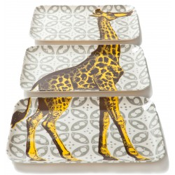 Set of 3 Giraffe Dishes Thomas Paul