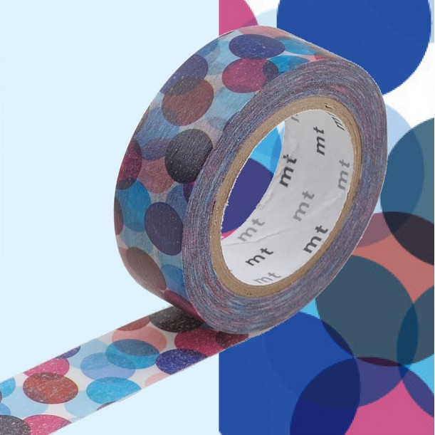 Masking Tape MT Deco Spot Blue