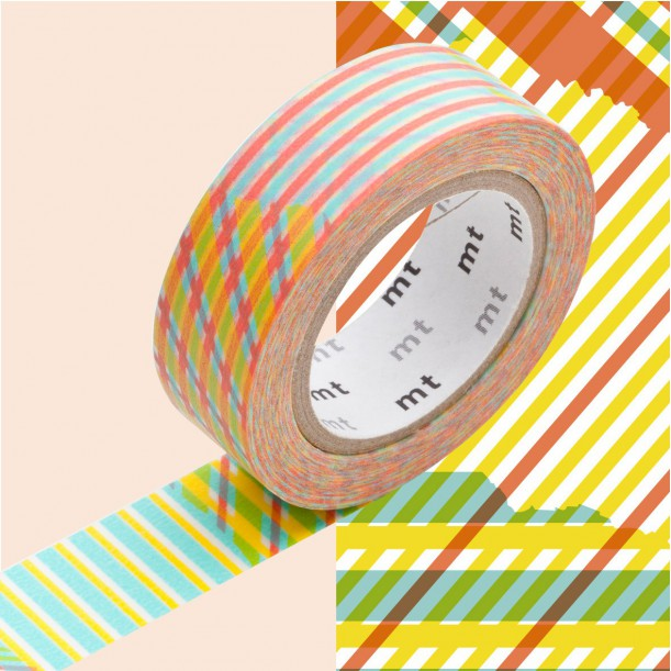 Masking Tape MT Deco Stripe Checked Red