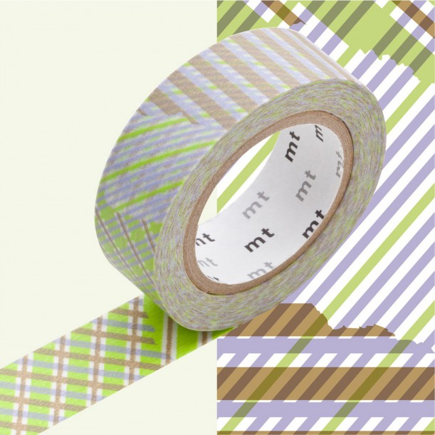 Masking Tape MT Deco Stripe Checked Green