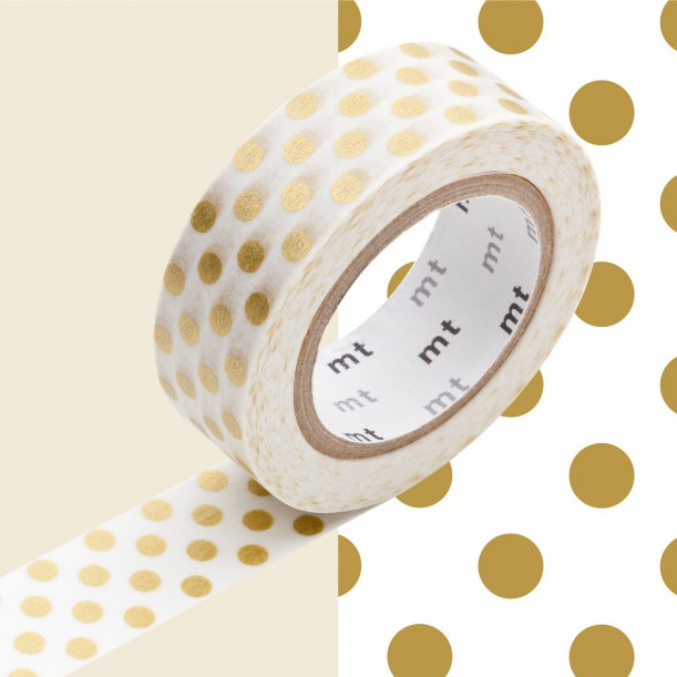 Masking Tape MT Deco Dot Gold