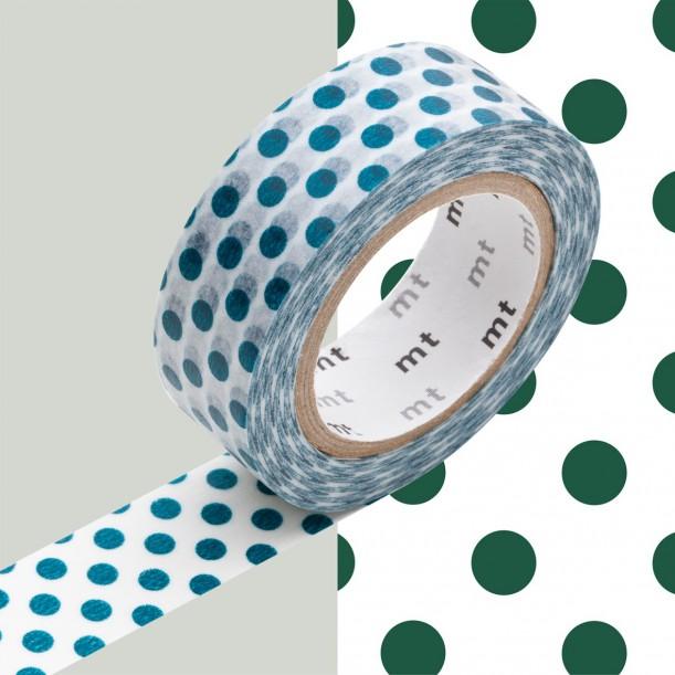Masking Tape MT Deco Pois Vert Foncé