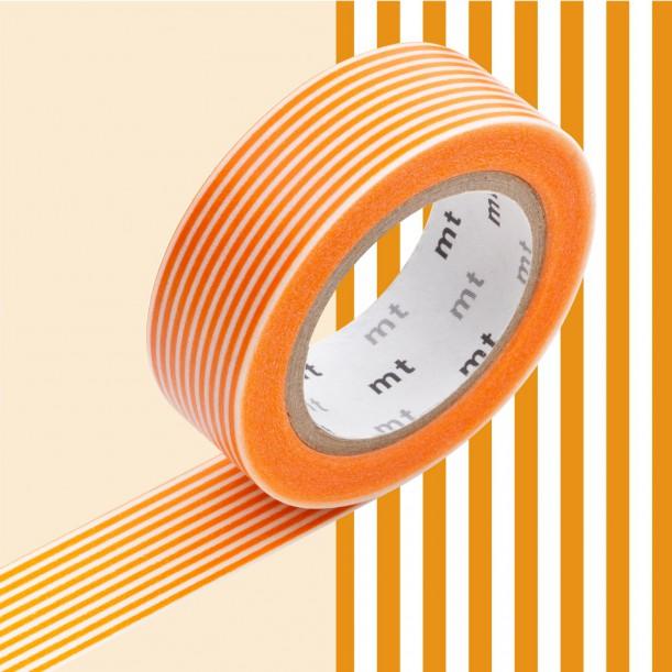 Masking Tape MT Deco Ligne Orange