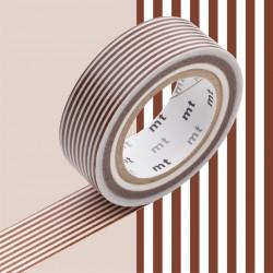 Masking Tape MT Deco Border Brown