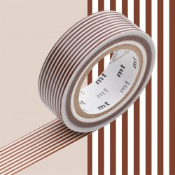 Masking Tape MT Deco Ligne Marron