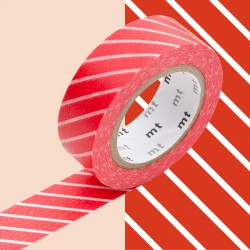 Masking Tape MT Deco Rayé Rouge