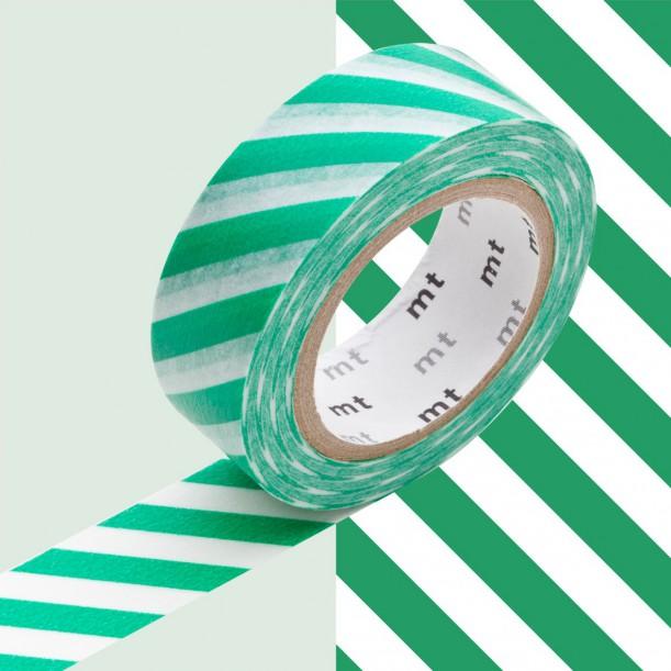 Masking Tape MT Deco Rayé Vert