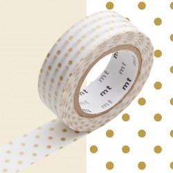 Masking Tape MT Deco Petit Pois Doré