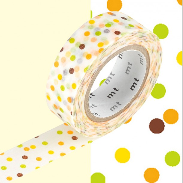 Masking Tape MT Deco Drop Yellow