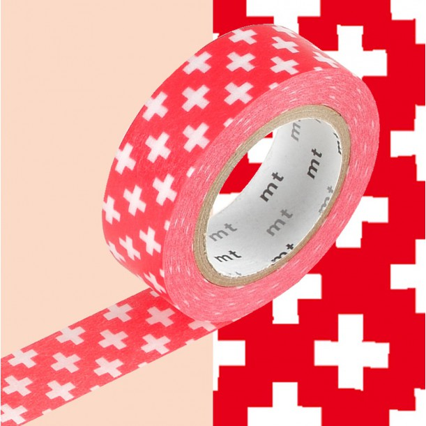 Masking Tape MT Deco Cross Carmine