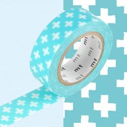 Masking Tape MT Deco Croix Bleu Ciel