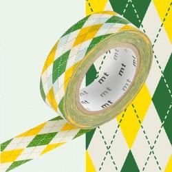 Masking Tape MT Deco Argyle Green