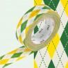 Masking Tape MT Deco Losange Vert