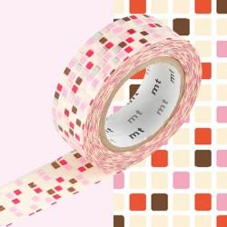 Masking Tape MT Deco Carreau Rose