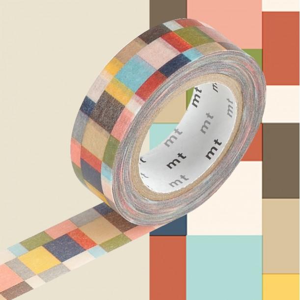 Masking Tape MT Deco Mosaic Greyish