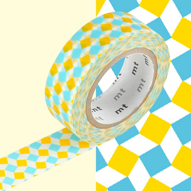 Masking Tape MT Deco Square Yellow