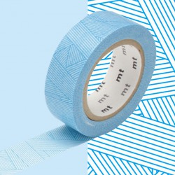 Masking Tape MT Deco Messy Cyan