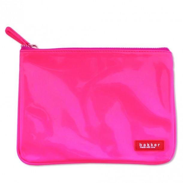 Vinyl Neon Pink Flat Pouch Bakker
