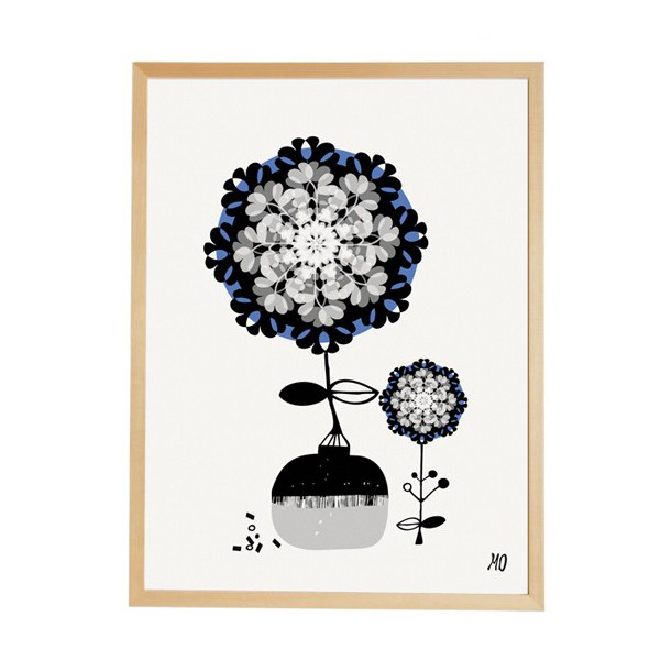 Print The Delicate Flowers going Danish