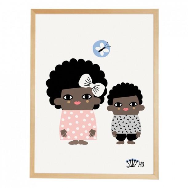 Print Sweet Siblings going Danish