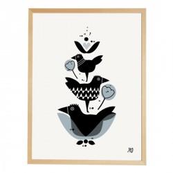 Affiche Three Birds going Danish