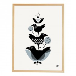 Print Three Birds going Danish