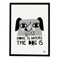 Affiche Home Is Where The Dog Is going Danish