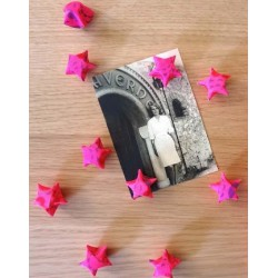 Set de 10 Mini Magnets Etoiles Rose Fluo Origami Les Colocataires