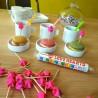 Set de 20 Pics Apero Rose Fluo Origami Les Colocataires