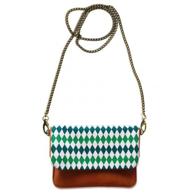Shoulder bag 3 in 1 Diabolos Leather and Canvas Bakker
